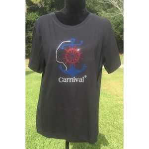 Carnival cruise rhinestone shirt